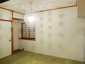 デザイン照明で洋風テイストが入り混じる和室へ
