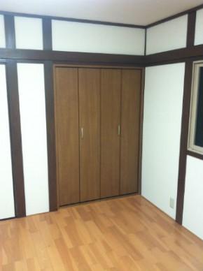 和室の雰囲気を残した洋室 神戸市灘区