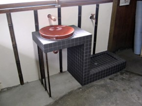 築百年の日本家屋に合わせた和風造作洗面 生駒市