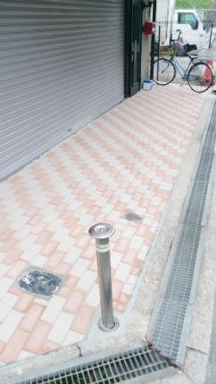 インターロッキングブロックでレンガ風のおしゃれな土間に 大阪市