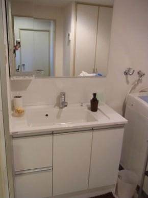 パナソニック Cラインで白を基調とした明るい洗面空間へ 神戸市東灘区