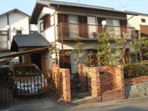 レンガ調のブリックタイルでおしゃれな塀 宝塚市
