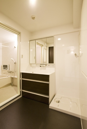 有機ガラスで使い勝手のいい洗面所 伊丹市寺本