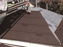 新しい屋根材の施工[イメージ]