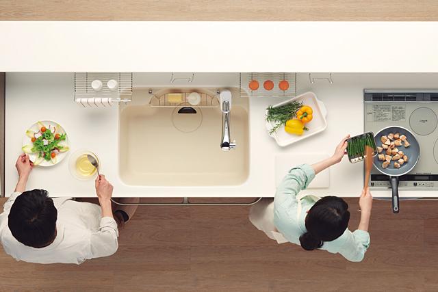 家族みんなのキッチンへ トクラス ベリー「デュアルワークスペース」