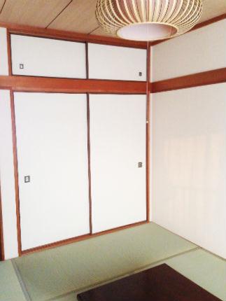畳・襖・クロスの張り替えで明るい客室用和室に