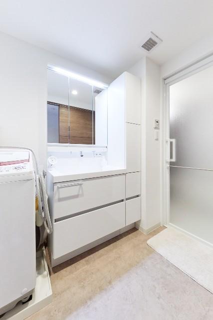 収納スペースの充実、清掃性の向上で快適な洗面化粧台