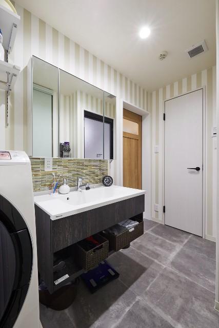 生活動線を改善!玄関から直行できる洗面室