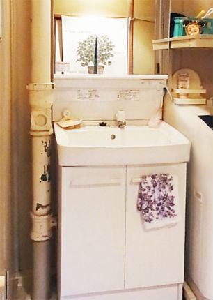 明るい洗面化粧台