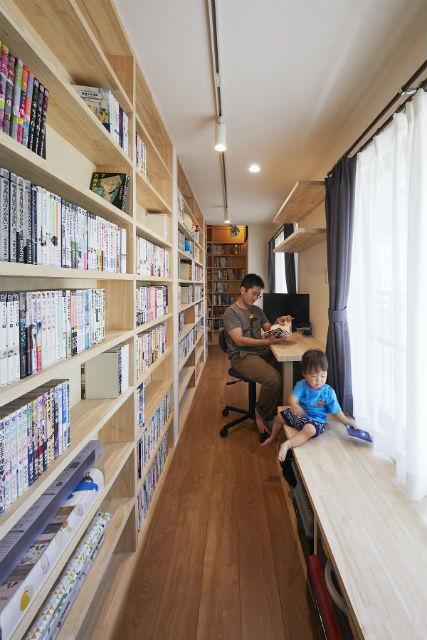 大人も子供も楽しい我が家の図書館