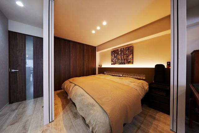 短い生活動線を叶えるリビング内のベッドルーム