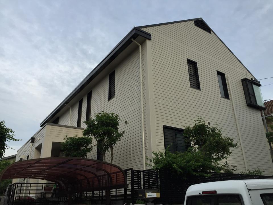 シリコン系樹脂塗料によるサイディング外壁塗装と屋根塗装