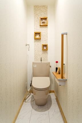 モザイクタイルをトイレのアクセントに