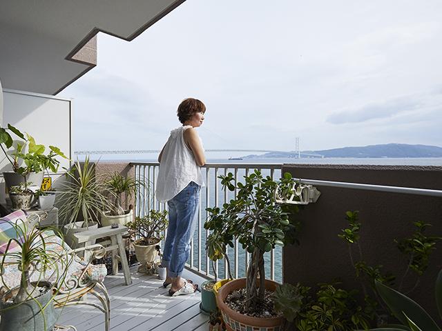 海を眺める、フレンチモロッカンハウス